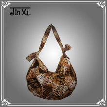 New fashion cotton flannel bag leopard handbag
