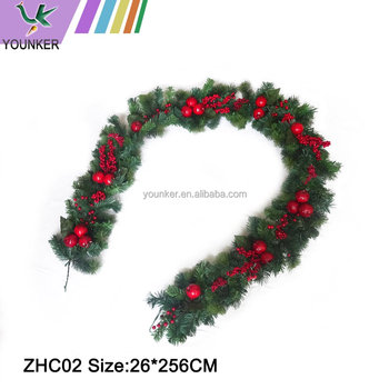 Hot Selling Personalized Christmas Rattan Red Berries Christmas Wreath
