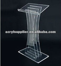 Floor standing acrylic lectern for meeting