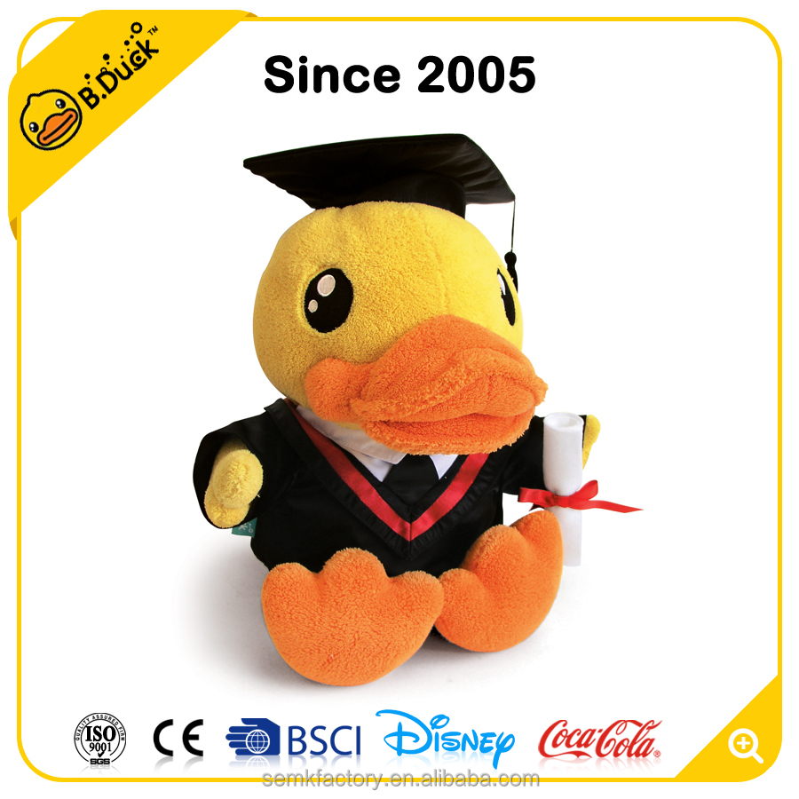 Novelty adult plush and stuffed plush toys - B.Duck graduation plush