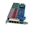 SinoV-TDM1600E Voip Card 16 ports analog card, single side with 8 dual FXO/FXS, PCI express