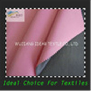 Semi-Dull Dobby Polyester Pongee Fabric PU Pearl-like Coating
