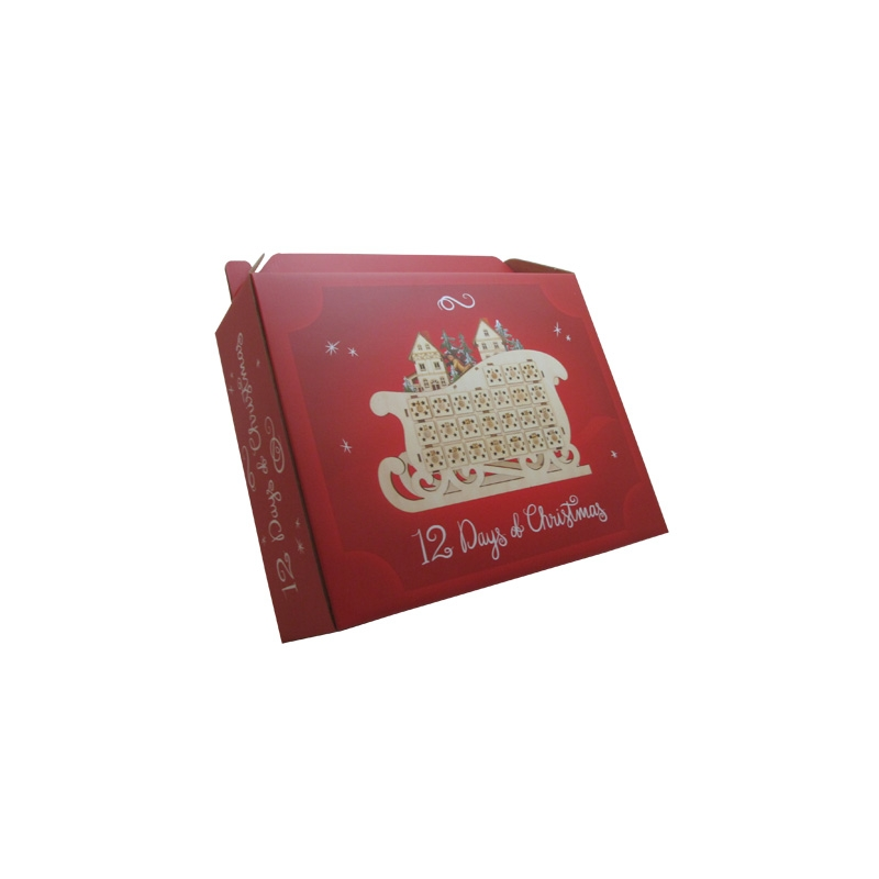 custom recyclable Hand carry chirstmas gift corrugated paper box with logo