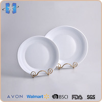 Smooth surface impact resistance plastic bulk white dinner plates