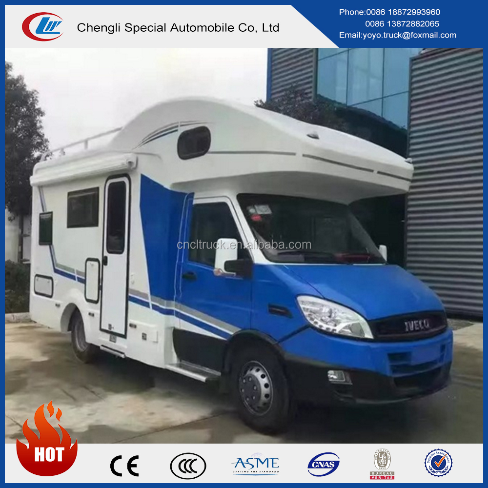 China 4x2 iveco motor home mobile caravan with cheap price