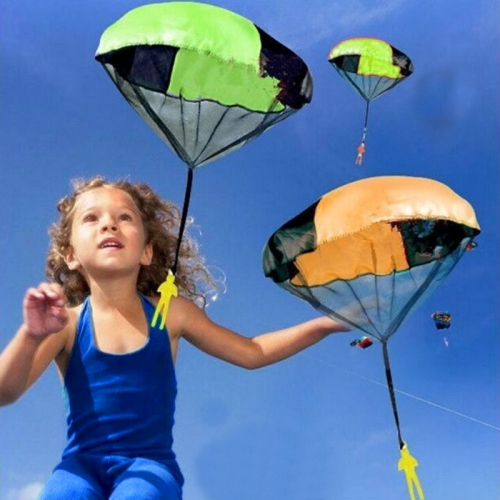 Drop shipping services Educational Toys ,Hand Throwing ,Mini Play Parachute Paratrooper Outdoor Games with Figure Soldier