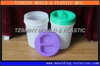 1 Gallon Plastic Paint Bucket Injection Mold With Lid