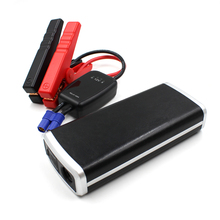 12V 15000mAh Leather Car Jump Starter With Smart Jumper Cables (Up to 6.0L Gas or HIACE 3.0); Portable Car Jump Starter