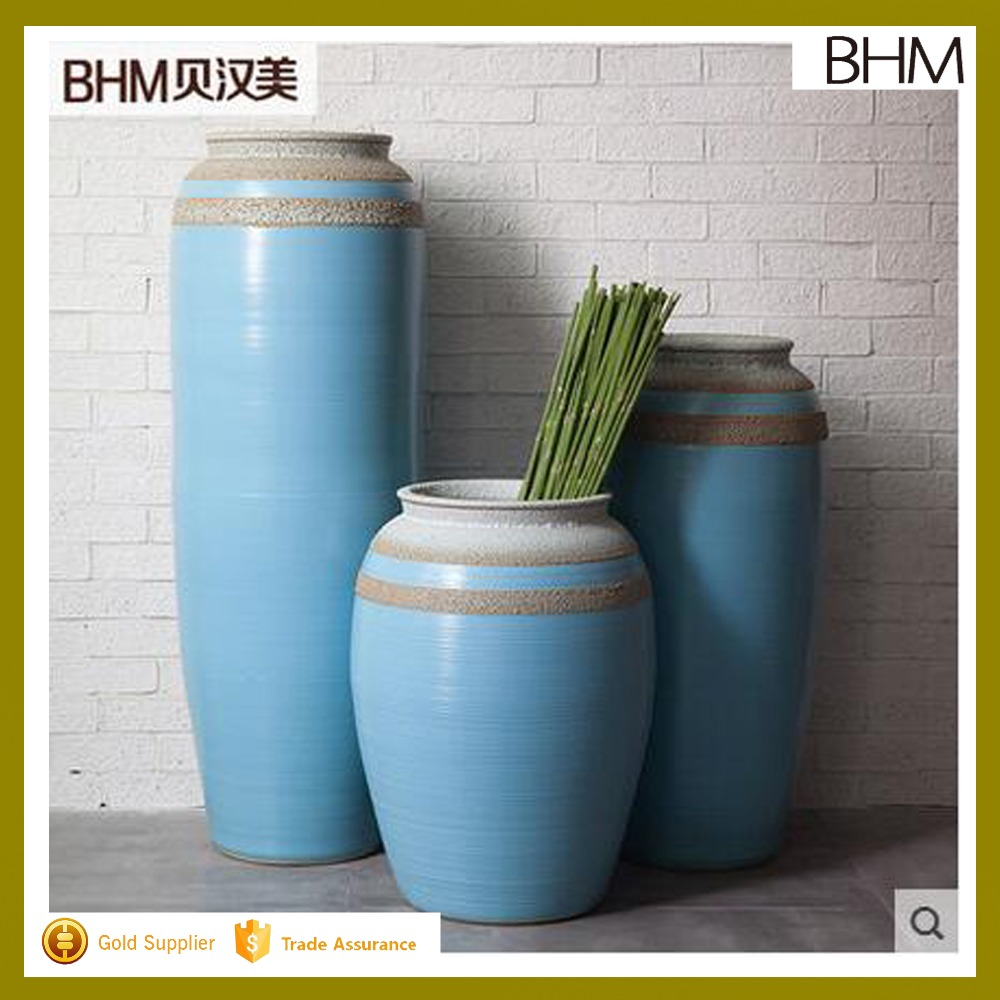 Pure white lines pattern large floor vases sale for hotel deco /Large Floor Vases Antique Glass