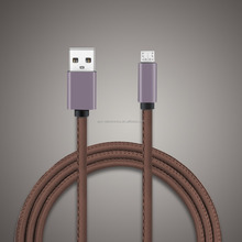 Micro USB Cable With Crystal Box,High Speed 3ft Premium Leather Braided USB 2.0 A Male to Micro B Data Sync & Charge Cord