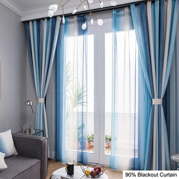 Apartment 96 inch printed blackout curtains For YRF