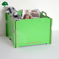 Foldable Wooden storage box for toys