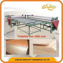 automatic four sides wood cutting saw/plywood sliding table machine