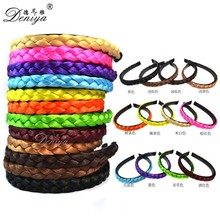 Hot sale fashion Synthetic Short Bradied headband Hair Accessory