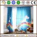 customized polyester unicorn digital printed curtain for girl
