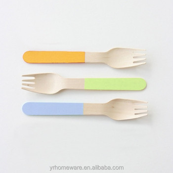 Patterned wooden utensils disposable wooden cutlery