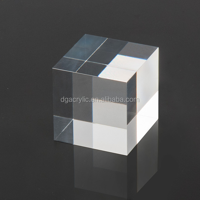 Wholesale transparent solid clear display acrylic cube