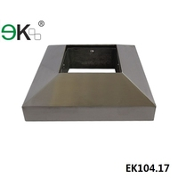 Stainless steel square cover plate with square hole