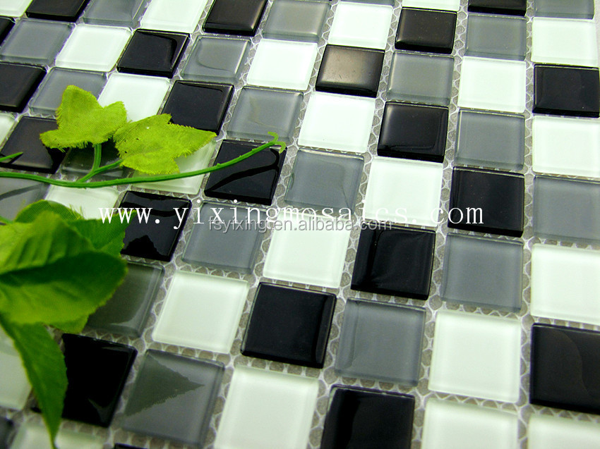 4mm,25*25mm decorative crystal mosaic,swimming pool tile, bathroom mosaic,mosaic tile