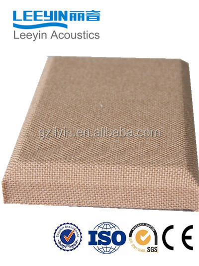 fabric acoustic panels with fiberglass high sound absorption coefficient