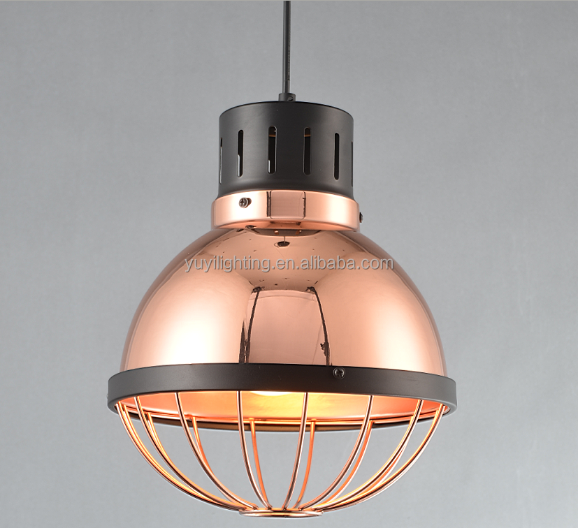 Yuyilighting Iron Plating Rose Gold Chandelier Lamps Led Kitchen Lighting Lamp Modern Hanging Pendant Light