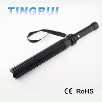 Portable aluminum led rechargeable self defense torch light