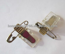 Factory supply Plastic name badge clip with safety pin