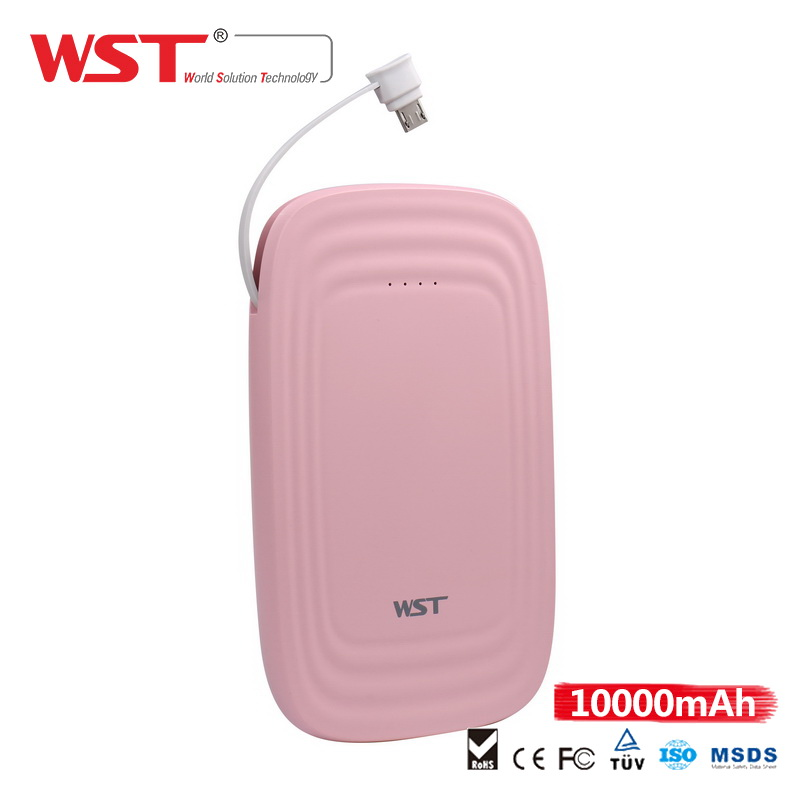 power bank wst 5V 2.1A rohs 10000mah custom power bank WP926