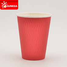 S ripple exterior double wall coffee paper cup