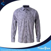 Made in China long sleeve 100% cotton wrinkle famous brand shirts for men