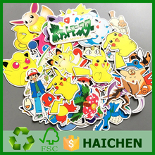 43Pcs/Set Pokemon Waterproof Laptop Car Stickers For Trunk Skateboard Guitar Fridge Decal Toy Stickers