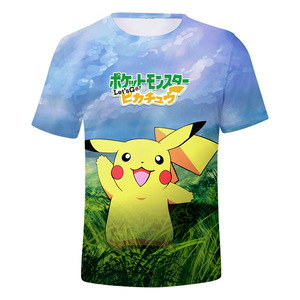 0e79cb3f Wholesale Anime Clothing Casual Short Sleeve Pokemon Go Pikachu T shirt