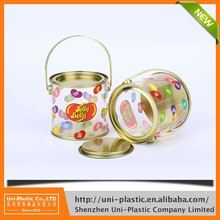Food Grade Cylinder Container clear hard plastic tube with plug ASB