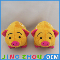 10cm Standing Khaki Color Guangdong Factory Make Stuffed Plush Cute Pig Animal Toys