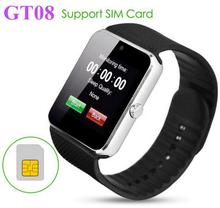GT08 Android Calling Function SIM card Smart Watch gt08 with Browser