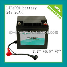 24v 20ah lithium iron phosphate battery pack(Australia hot sale)with solar controller for small solar system