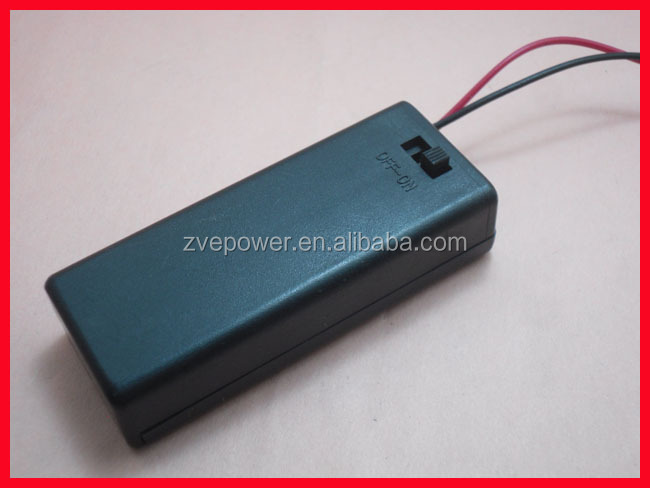 2*AAA Hot Battery Cover Box Case with ON OFF Switch