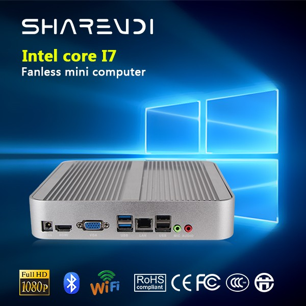 Office supply mini pc intel core i3 i5 i7 quad core aluminium alloy&fanless, new products for office work.