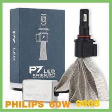 Factory supply P7 9005 philipps high power IP68 60W Auto Parts LED car led headlight automobile&motorcycles led headlight 6000k