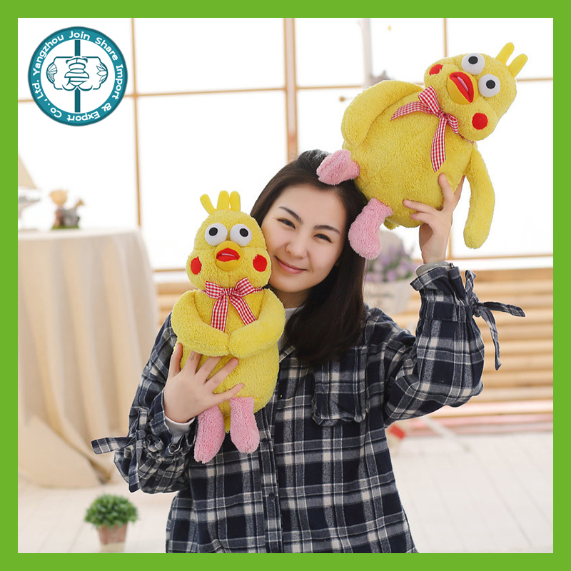 Wholesle best made kawaii creative yellow plush lovely soft bird toys