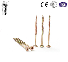 chipboard screw yellow zinc plated double head