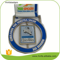 New Attractive Soft Enamel Epoxy Silver Medals with Colorful Logo