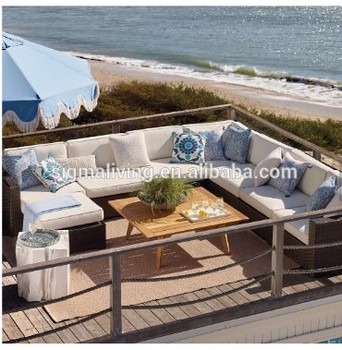 Hot sale modern design corner rattan sofa big sectional sofa set