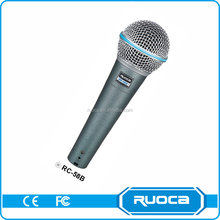 Professional collar portable cable microphone