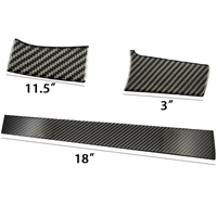 Carbon Fiber Interior Console Center Dashboard Cover Trim Sticker Fits For Honda Civic 2016 2017 Car Styling Accessories