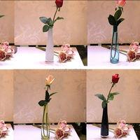 clear tall singer flower glass vase