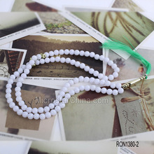 Factory price 8mm 99 plastic muslim glow in the dark rosary necklace