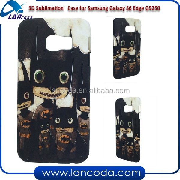 printable 3D sublimation phone case for Samsung Galaxy S6 Edge G9250,sublimation cover,3d sublimation case