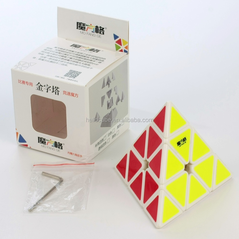 QiYi Pyraminx MoFangGe Puzzle Magic Cube White Intelligence pyramid Educational Toys for Kids