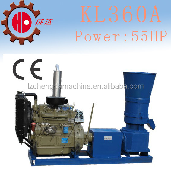 CE certification flat die 55HP tree branches, stalk, fruit hull pellet mill machine